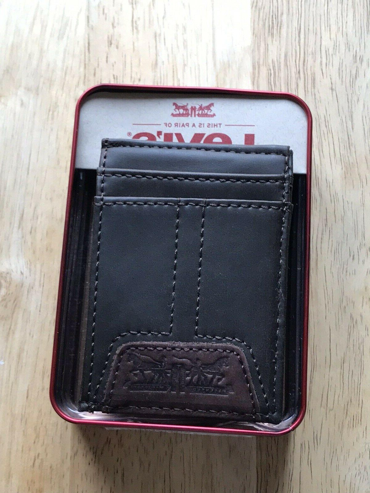 Levi's Mens Front Pocket ID Wallet
