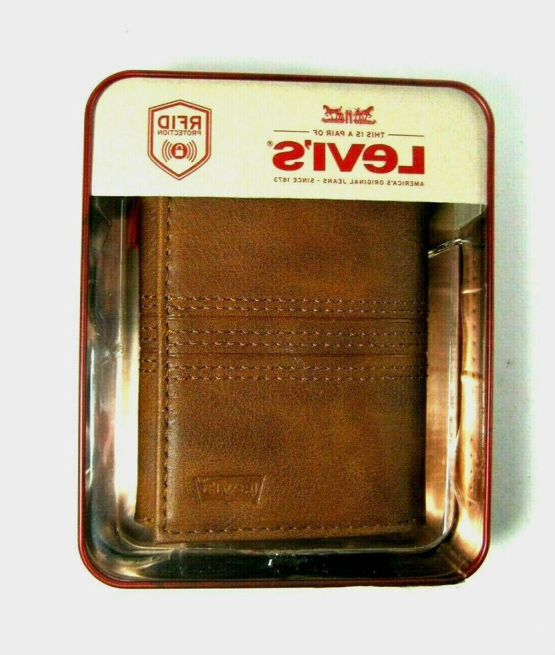Levi's Trifold Security Leather RFID Select Color