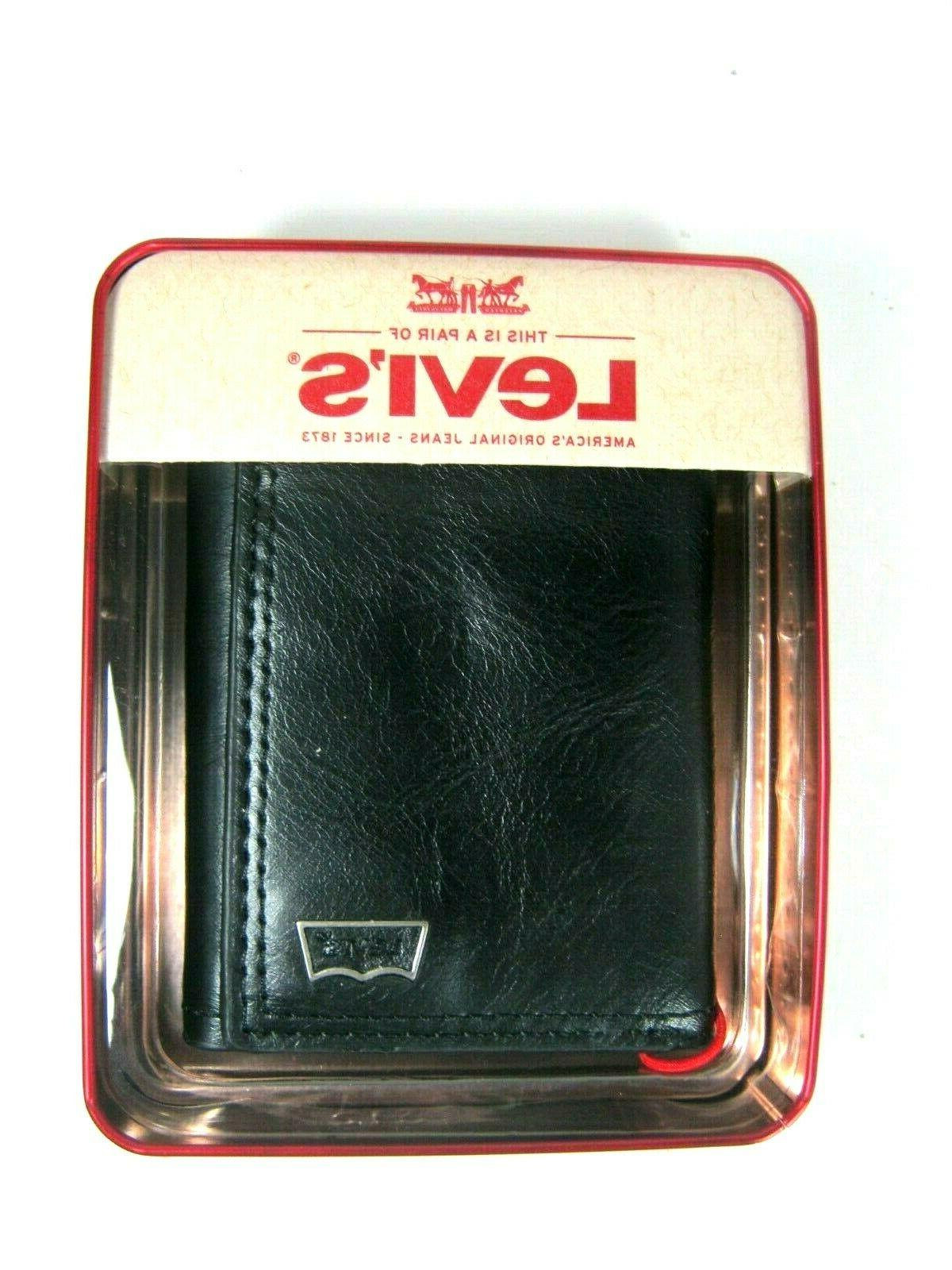 Levi's Security Leather Wallet RFID Blocking Select Color Style