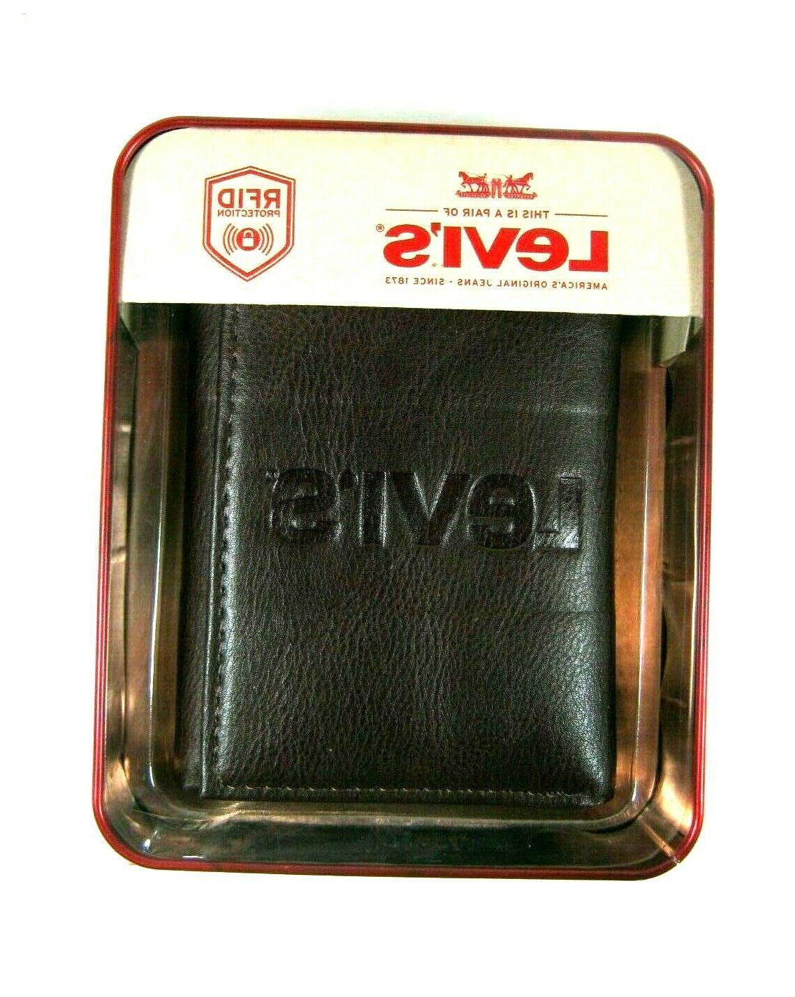 Levi's Leather Wallet RFID