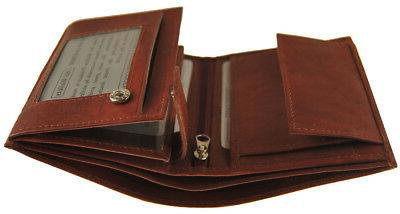 AG Wallets Leather Hipster Slots Burgundy