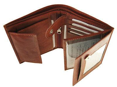 AG Wallets Leather Hipster 3 8 Slots Burgundy