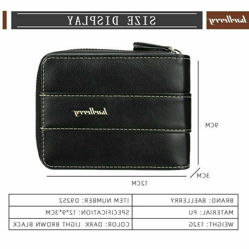 Men ID Credit Card Holder Clutch Bifold Pocket Coin