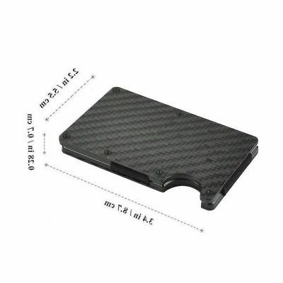 Men RFID Money Card Holder Carbon