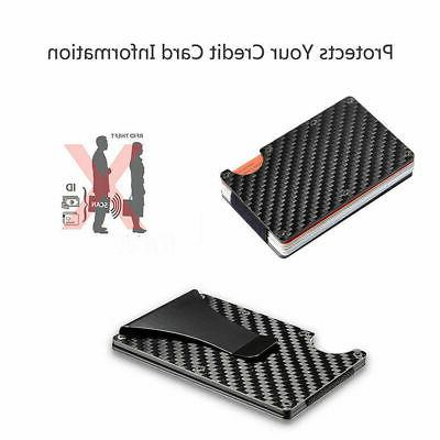Men RFID Money Credit Carbon Fiber