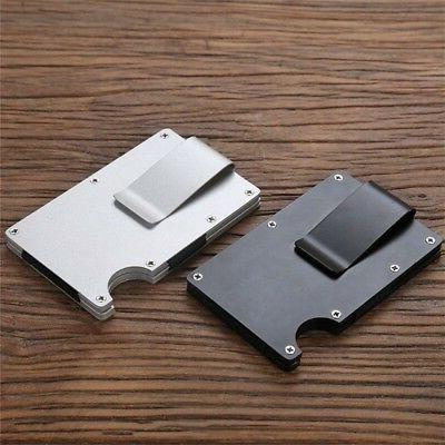 Men RFID Slim Money1 Clip Wallet Credit Card ID Holder Thin Minimalist