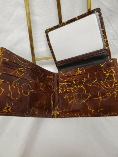 HIMI Stylish Abstract ID Card Brown Gold