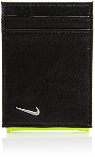 men s blocked front pocket wallet w
