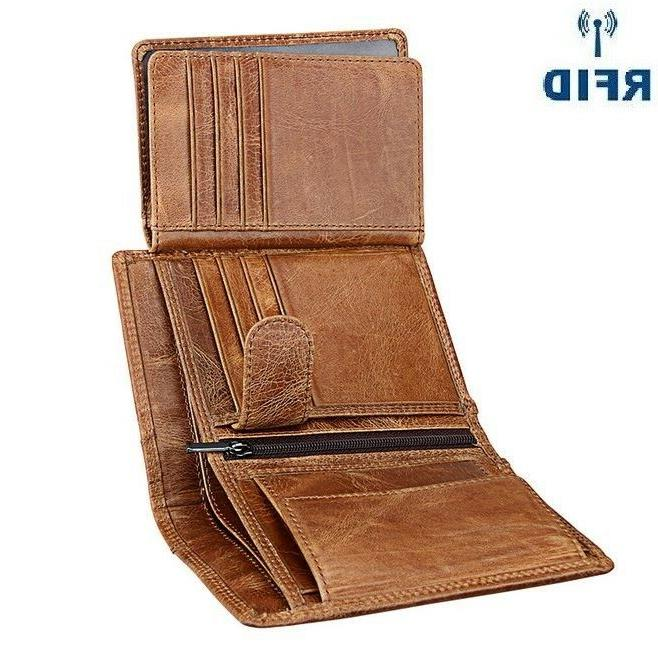 men s clutch coin card wallet trifold