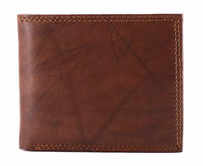Tommy Hilfiger Men's Capacity Traveler Wallet Tan