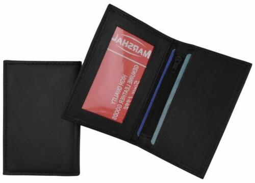 men s genuine leather bifold id credit