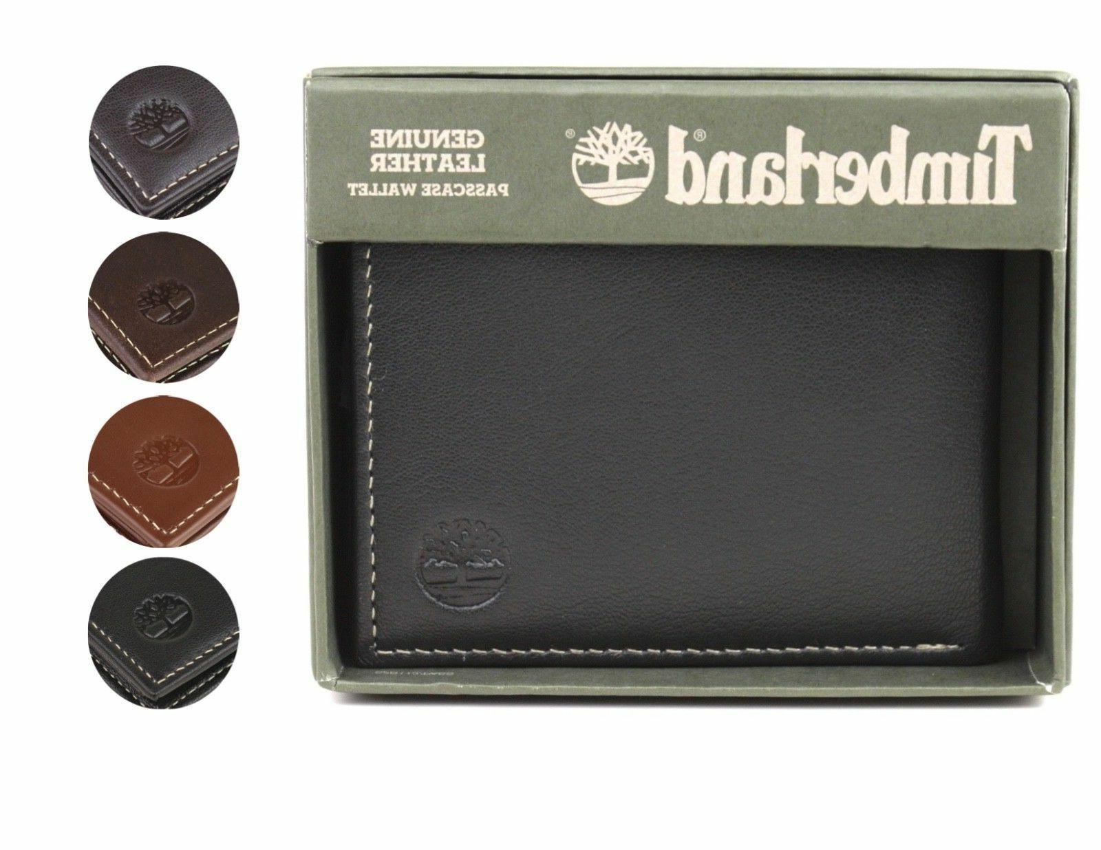 men s genuine leather passcase credit card