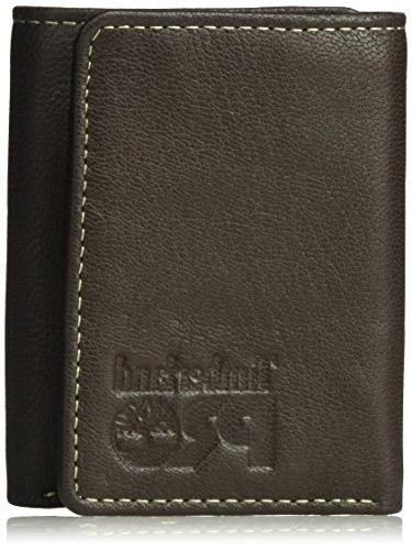 men s leather rfid trifold wallet