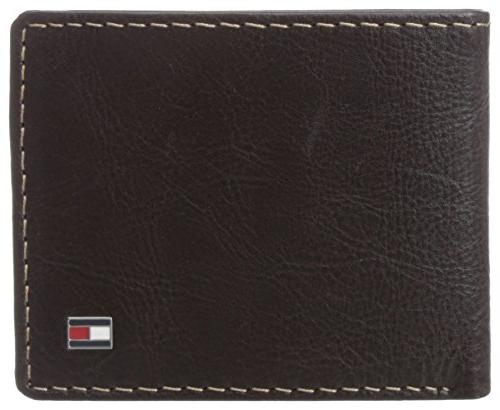 men s leather slim billfold wallet brown