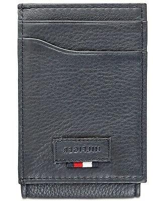 men s leather wide magnetic front pocket