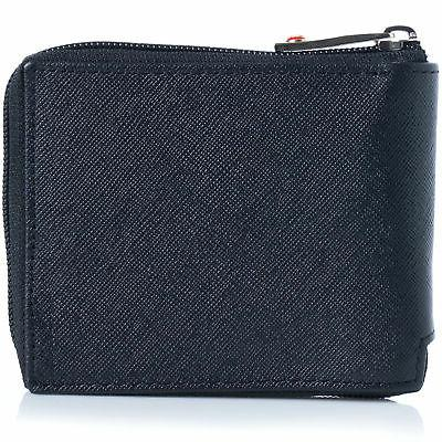 Alpine Mens Zip Around Wallet Card Zipper Bifold