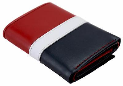 Tommy Leather Red Navy