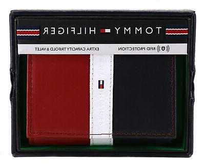 Tommy Hilfiger Premium Leather Trifold Rfid Red