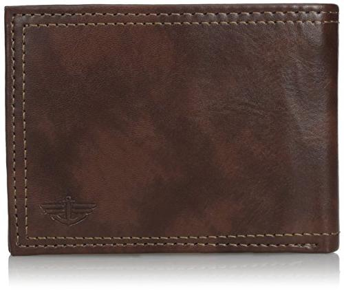 men s rfid blocking extra capacity leather
