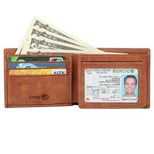 Men's Wallet - Blocking Vintage Trifold Wallet