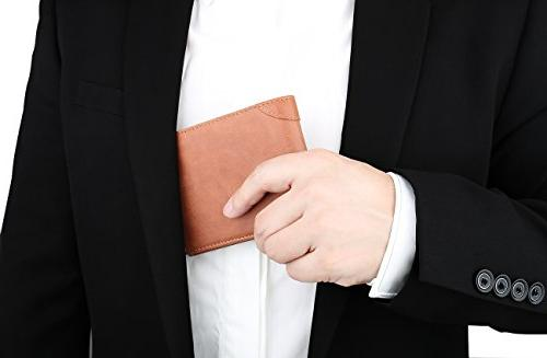 Men's Wallet - RFID Blocking Leather Trifold Wallet