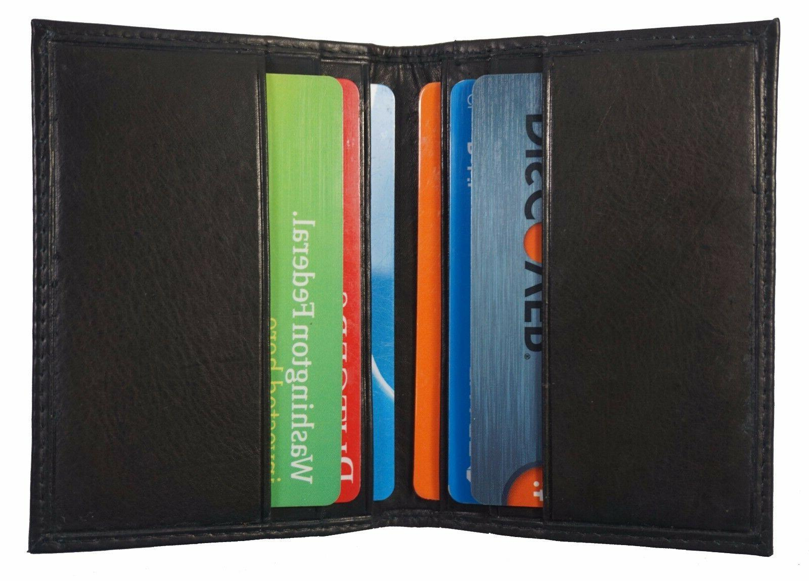 Men's New Bifold Genuine ID Credit Holder.