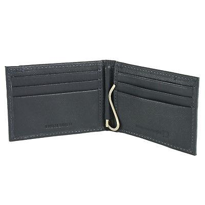 Alpine Mens Bifold Money Spring Loaded Leather Front Wallet