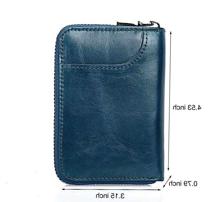 Mens Leather Card Holder Thin