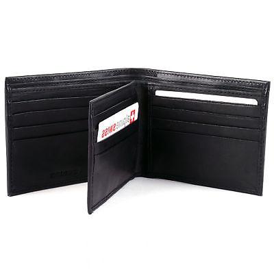 Alpine Swiss Leather Wallet Clip Trifold Front