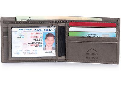 Alpine Swiss Mens Wallet Card Bifold