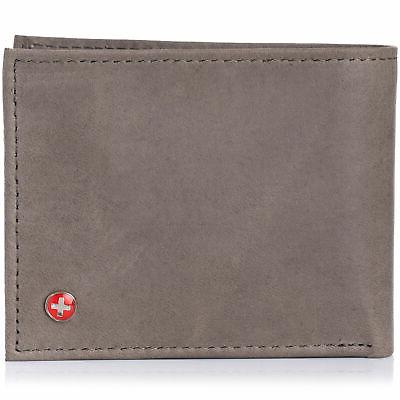 mens leather wallet multi card flip id