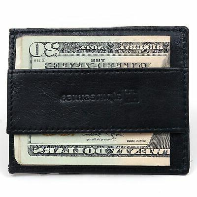 mens minimalist front pocket wallet card case