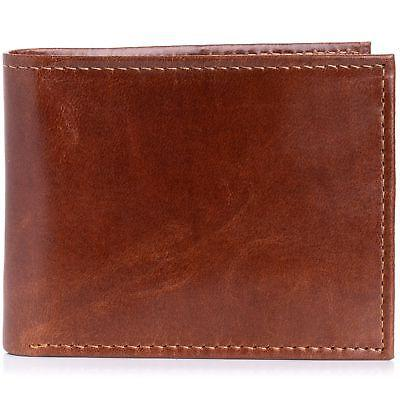 Alpine Mens Blocking Leather Wallet Card
