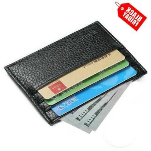 Mens Slim Card Holder Front Pocket Thin