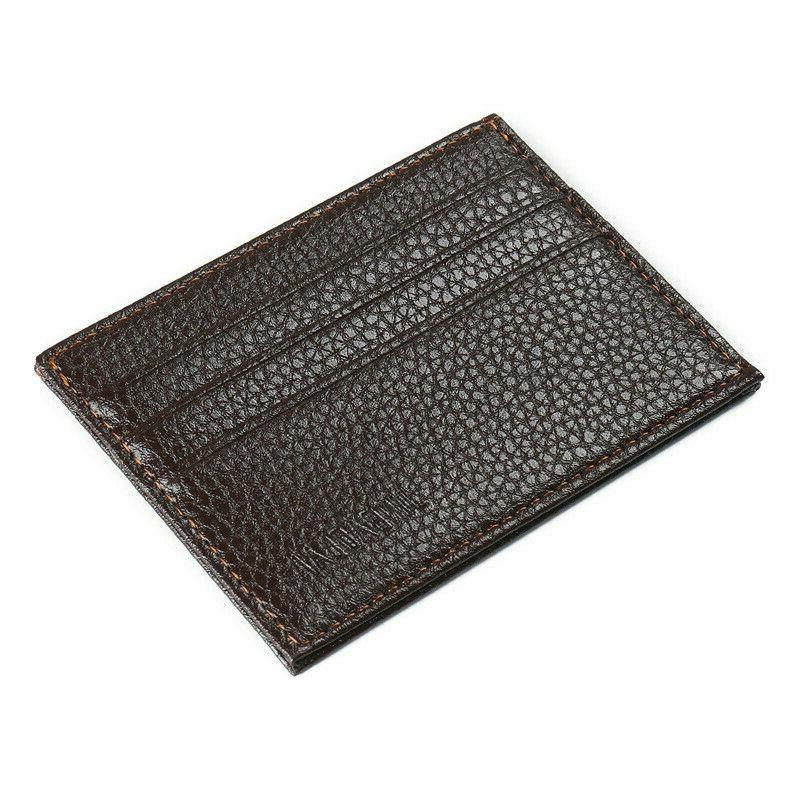 Mens Leather Card Holder Wallets Thin
