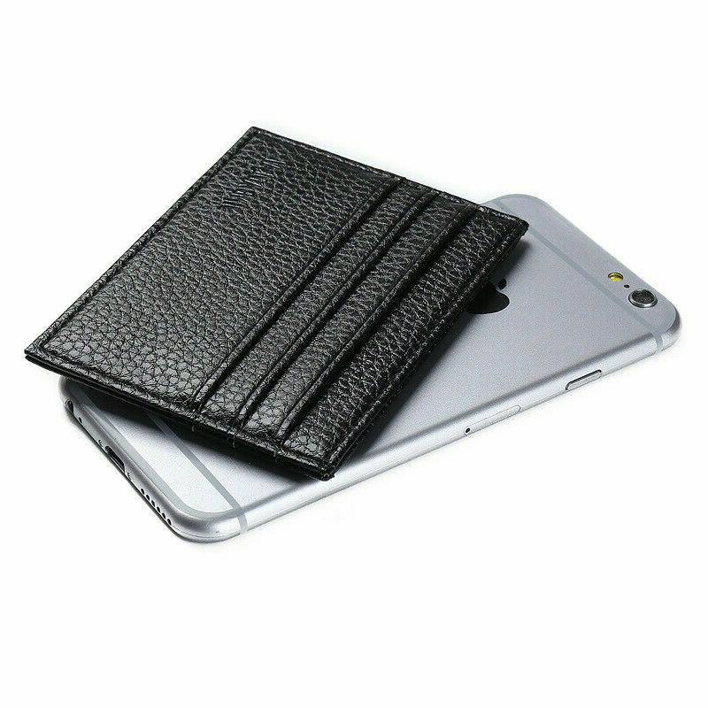 Mens Leather Wallet Card Holder Front Wallets Credit Thin