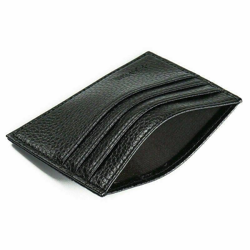 Mens Leather Wallet Card Holder Wallets Credit ID Thin
