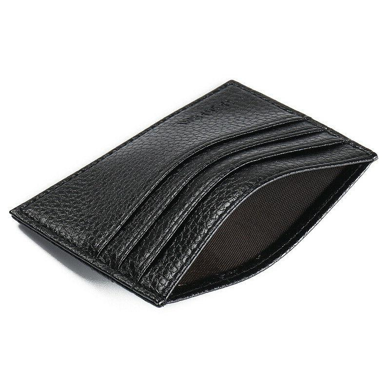 Mens Slim Leather Card Front Wallets Thin
