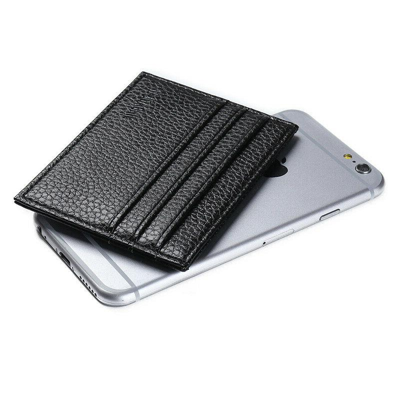 Mens Slim Leather Wallet Card Holder Wallets Credit Thin