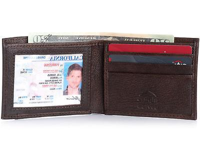 Alpine Mens Bifold Leather EZ Access Card Slot