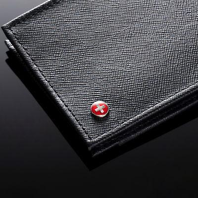 Alpine Bifold Wallet Top Grain Leather Card Slot