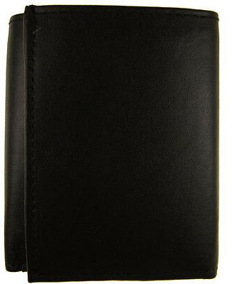 AG Wallets Leather Holder Zipper Black