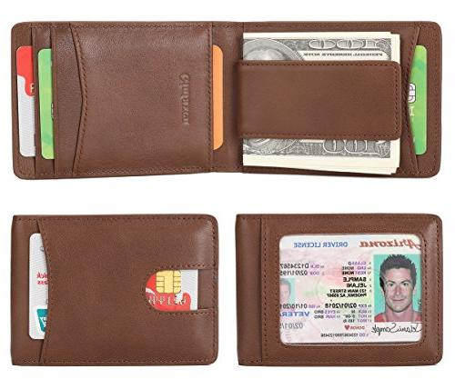 mens wallet slim genuine leather front pocket