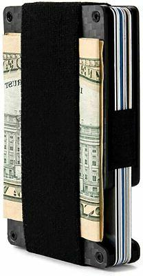 Minimalist Aluminum Wallet, Slim Money Clip Metal Wallet RFI
