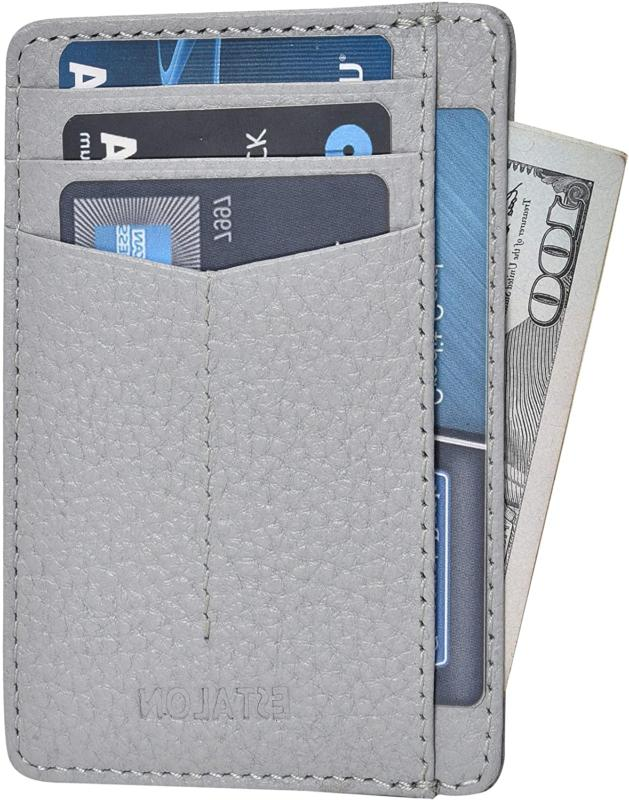 minimalist wallet for men and women genuine