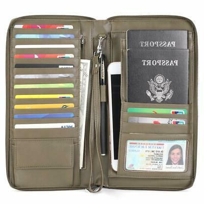 Multi-Purpose Wallet Passport Cover Credit card Document