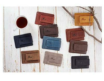 NapaWalli Genuine Magnetic Front Wallet