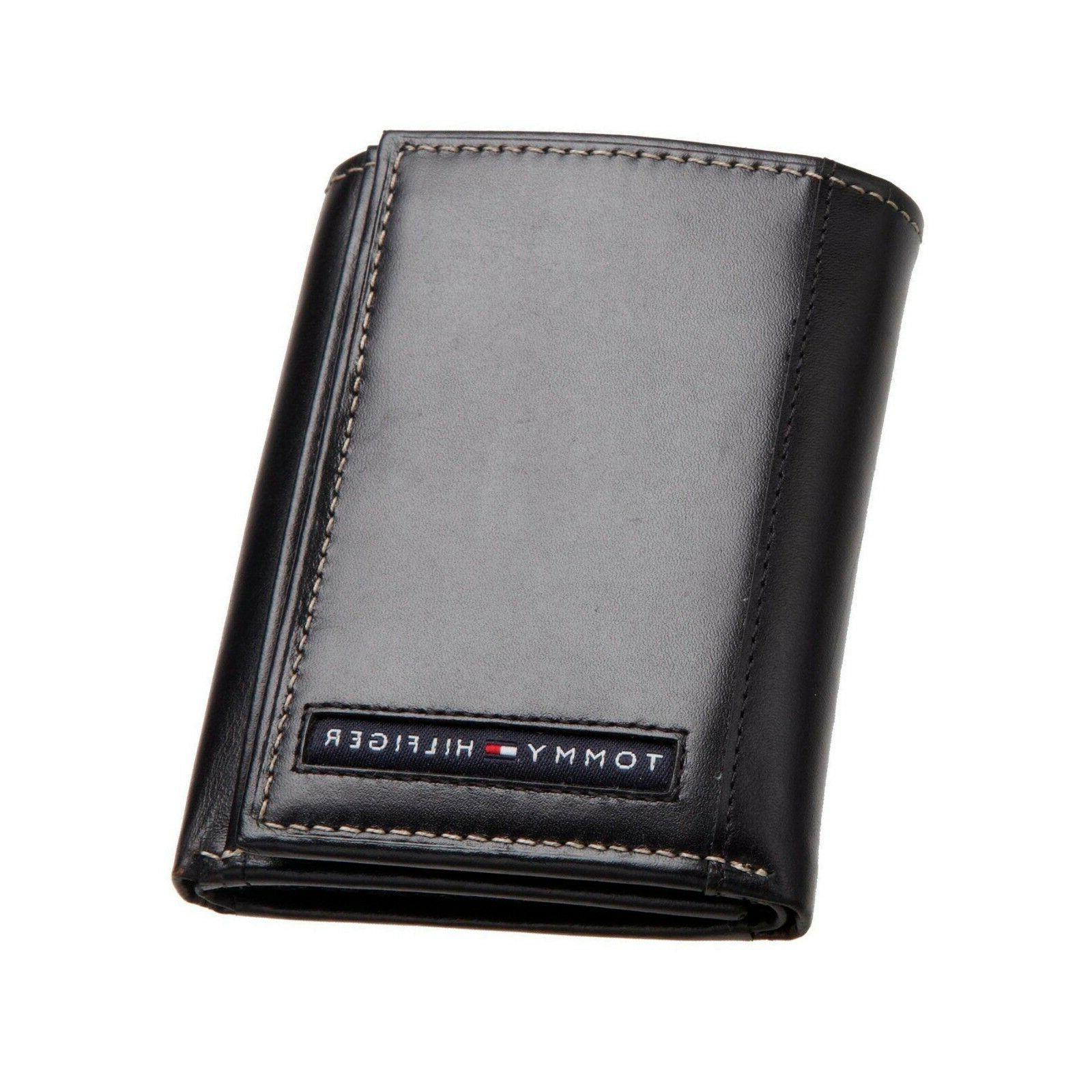 new cambridge leather trifold wallet