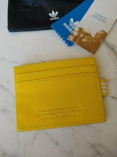 NEW CD7991 Originals Card Mini Wallet yellow leather nwt sold out