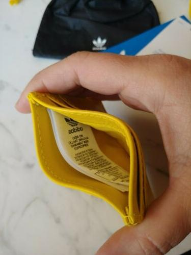 NEW Card Holder yellow leather out